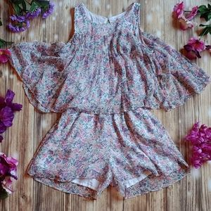 Girls Abercrombie & Fitch Floral romper 11 / 12
